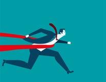 Geschäftsmann erfolgreich in einer Ziellinie Konzeptgeschäftskranke Lizenzfreie Stockbilder