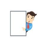 Geschäftsmann ernennen zum whiteboard Stockfotos