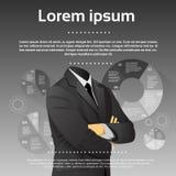Geschäftsmann-Executive Fashion Black-Klagen-Kopf lizenzfreie abbildung