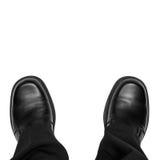 Geschäftsmann-Füße lokalisiert Lizenzfreie Stockfotografie