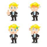 Geschäftsmann Facial Expressions stock abbildung