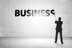 Geschäftsmann-Farbengeschäftswort Lizenzfreies Stockbild