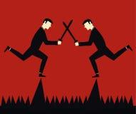Geschäftsmann Fighting Stock Abbildung