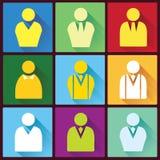 Geschäftsmann Flat Icons Stockbild