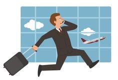 Geschäftsmann am Flughafen Lizenzfreie Stockfotografie
