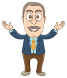 Geschäftsmann - freundliche Hand stock abbildung