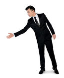 Geschäftsmann geben Hand Stockbilder