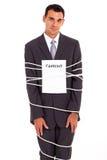 Geschäftsmann gebundener Vertrag stockfoto