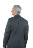 Geschäftsmann gesehen von hinten lizenzfreie stockbilder