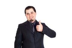 Geschäftsmann greift oben ab Lizenzfreie Stockfotografie