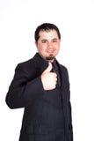 Geschäftsmann greift oben ab Lizenzfreie Stockfotos