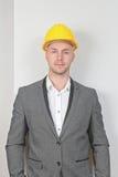 Geschäftsmann Hard Hat Lizenzfreies Stockfoto