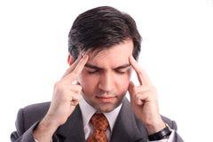 Geschäftsmann hat Kopfschmerzen Lizenzfreies Stockbild