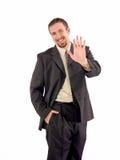 Geschäftsmann hohe fünf Lizenzfreie Stockfotos