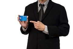 Geschäftsmann hol-Kreditkarte Lizenzfreies Stockfoto