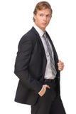 Geschäftsmann Holding Suit Jacket Stockfotografie