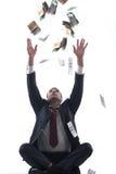 Geschäftsmann-Holdinggeld Lizenzfreie Stockfotos