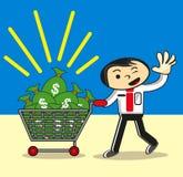 Geschäftsmann holen Geld stock abbildung