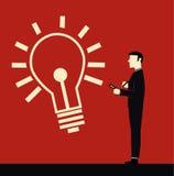 Geschäftsmann Idea Stock Abbildung