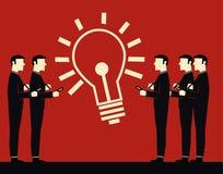 Geschäftsmann Idea Meeting Lizenzfreie Abbildung