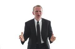 Geschäftsmann im angespannten Moment lizenzfreie stockfotos