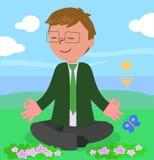 Geschäftsmann im Meditationshaltungsvektor Stockbild