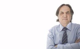 Geschäftsmann im weißen Hintergrund Stockfotografie