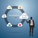 Geschäftsmann Infographic stock abbildung