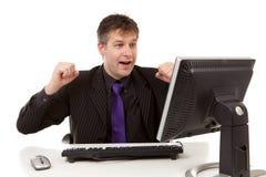 Geschäftsmann ist glücklich Lizenzfreies Stockfoto