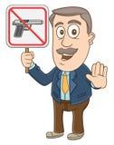 Geschäftsmann - kein Gewehrzeichen Lizenzfreies Stockfoto