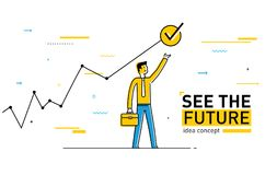 Geschäftsmann klettert die Treppe ausführungen Leistungszeitplan Erfolg, Wachstumsraten vektor abbildung