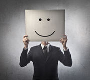 Geschäftsmann-Lächeln lizenzfreie stockfotografie