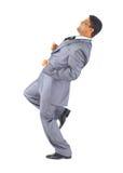 Geschäftsmann läuft herauf die Karriere stockbilder