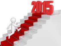 Geschäftsmann laufen gelassen bis zu 2015 Lizenzfreie Stockbilder