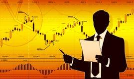 Geschäftsmann liest das Dokument Lizenzfreies Stockfoto