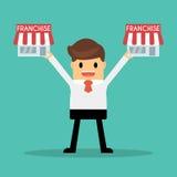 Geschäftsmann möchten sein Geschäft, Vorrecht-Konzept erweitern Lizenzfreies Stockfoto
