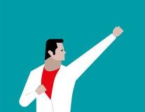 Geschäftsmann mögen Helden Konzeptgeschäftsillustration Vektor fla Stockfotos