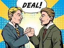 Geschäftsmann machen ein Abkommen lizenzfreie abbildung