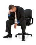 Geschäftsmann: Mann erschöpft von der Arbeit Stockfoto
