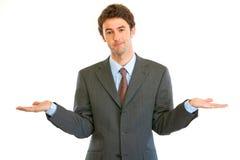 Geschäftsmann mit Überraschungsausdruck auf seinem Gesicht Stockfoto