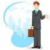 Geschäftsmann mit Aktenkoffer Lizenzfreie Stockfotos