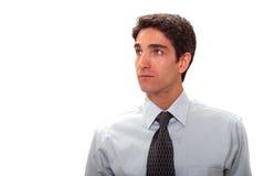 Geschäftsmann mit Anblick Stockfoto