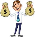 Geschäftsmann mit Bargeld lizenzfreie abbildung