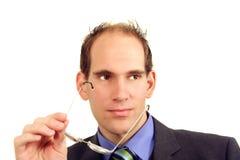 Geschäftsmann mit Brillen lizenzfreies stockfoto