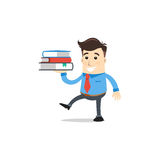 Geschäftsmann mit Buch Stockbild