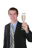 Geschäftsmann mit Champagne Lizenzfreies Stockfoto