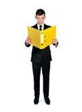 Geschäftsmann mit Datei Stockfotos