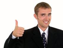 Geschäftsmann mit dem Daumen oben Lizenzfreie Stockbilder