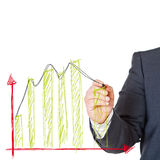 Geschäftsmann mit Diagramm Stockfotografie