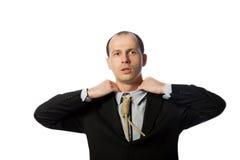 Geschäftsmann mit dem Galgengleichheitersticken Lizenzfreies Stockfoto